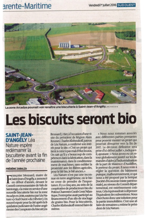 Sud Ouest - Biscuiterie VBO 010716